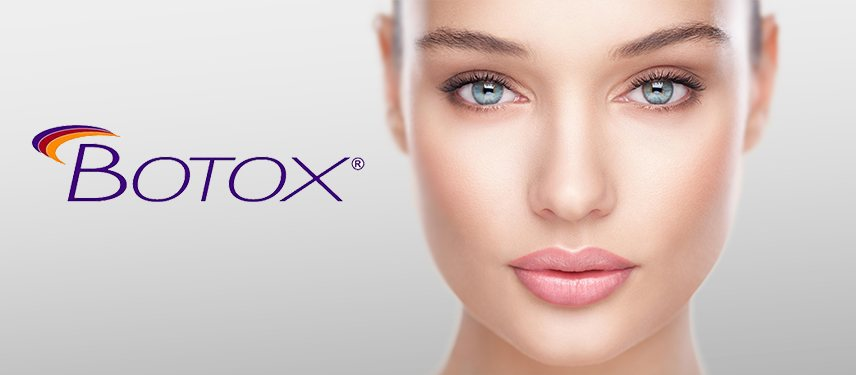 Woman's face with the Botox logo