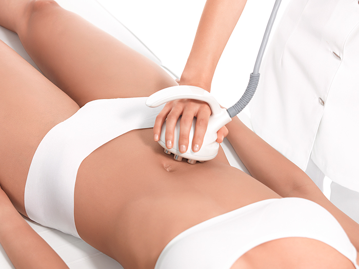 VENUS LEGACY being applied top a woman's stomach